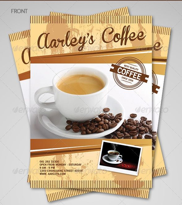 Free and Premium Food and Restaurant Menu Brochure 56pixels - coffee shop brochure template
