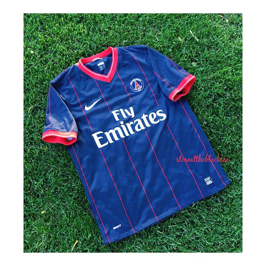 f6c67e9d1 PSG PARIS SAINT GERMAIN 2009 2010 HOME FOOTBALL SOCCER SHIRT JERSEY TRIKOT  NIKE  Nike