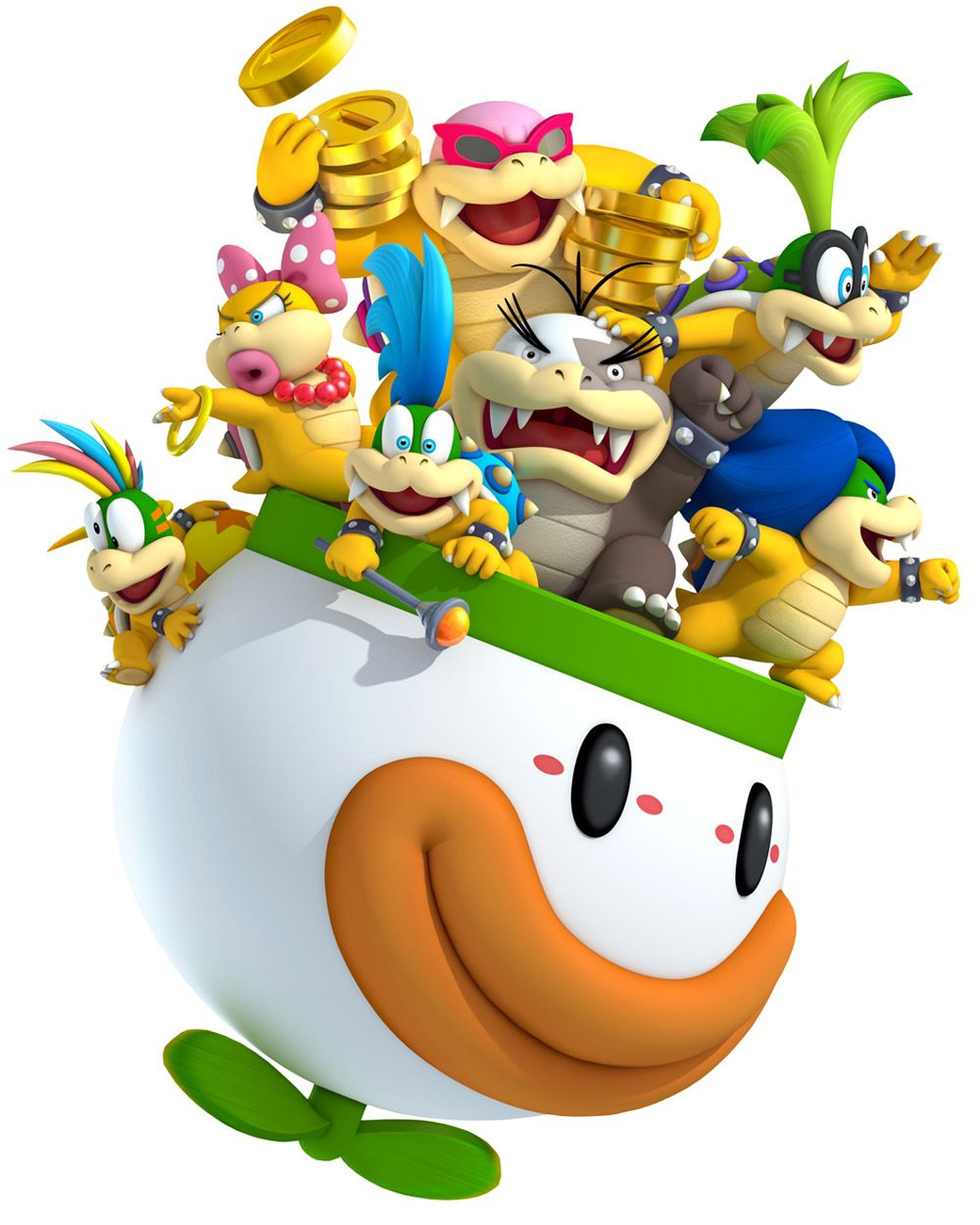 New Super Mario Bros 2 Koopalings Super Mario Mario Bros
