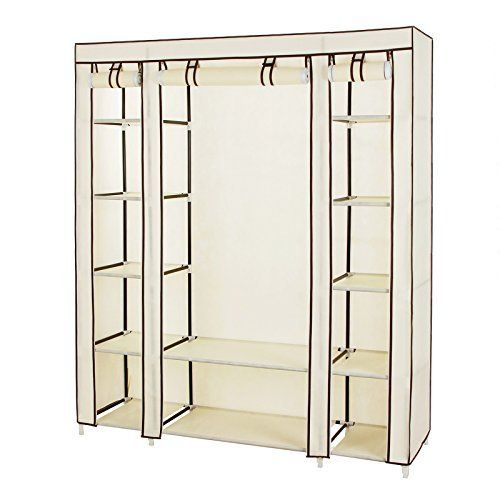 SONGMICS Shelving Garment Rack Heavy Duty Clothes Closet With Adjustable  Shelves And Hanging Bar