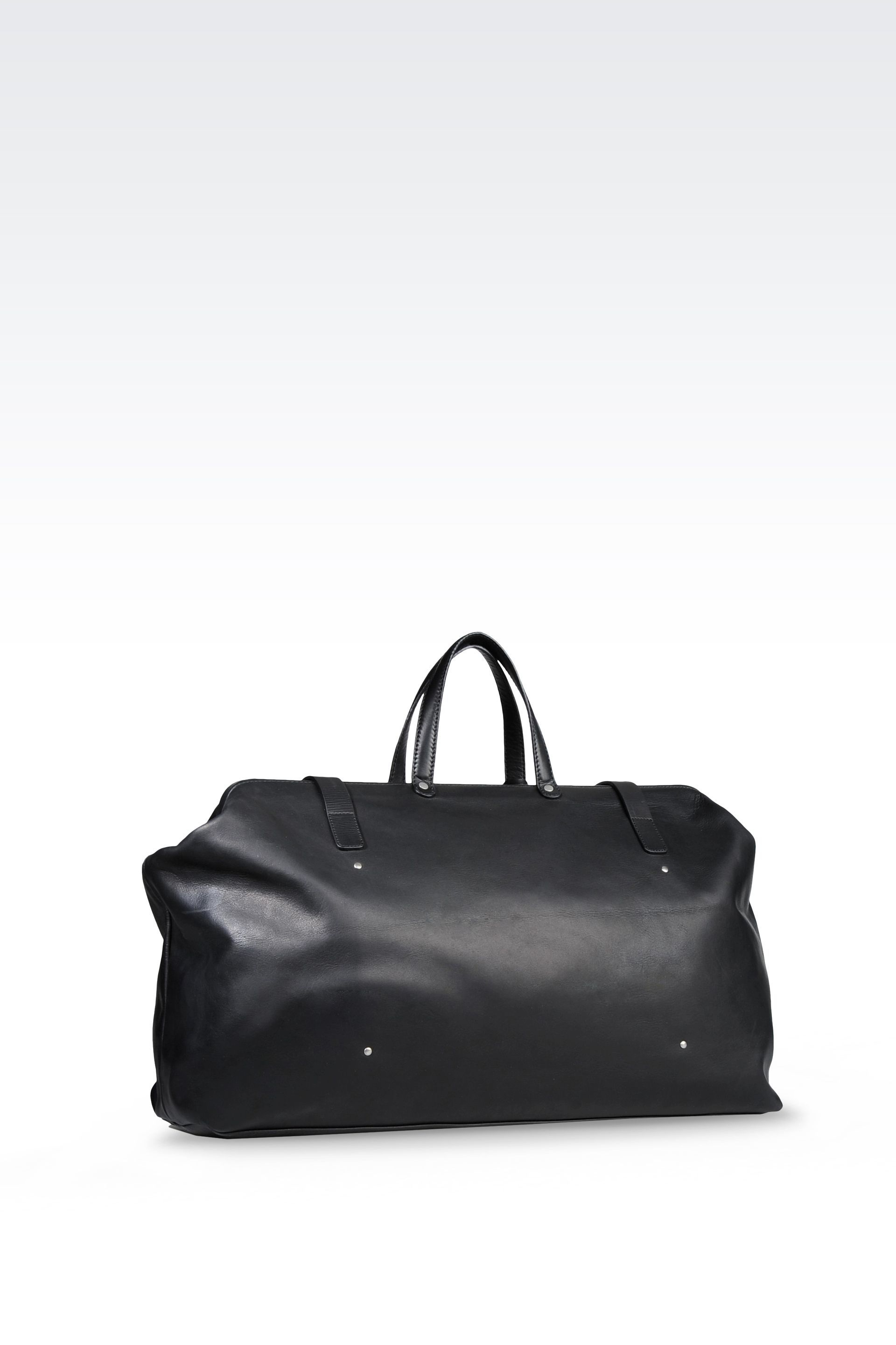 b57ef4f75b939 Emporio Armani Men Weekender Bag - LEATHER HOLDALL Emporio Armani Official Online  Store