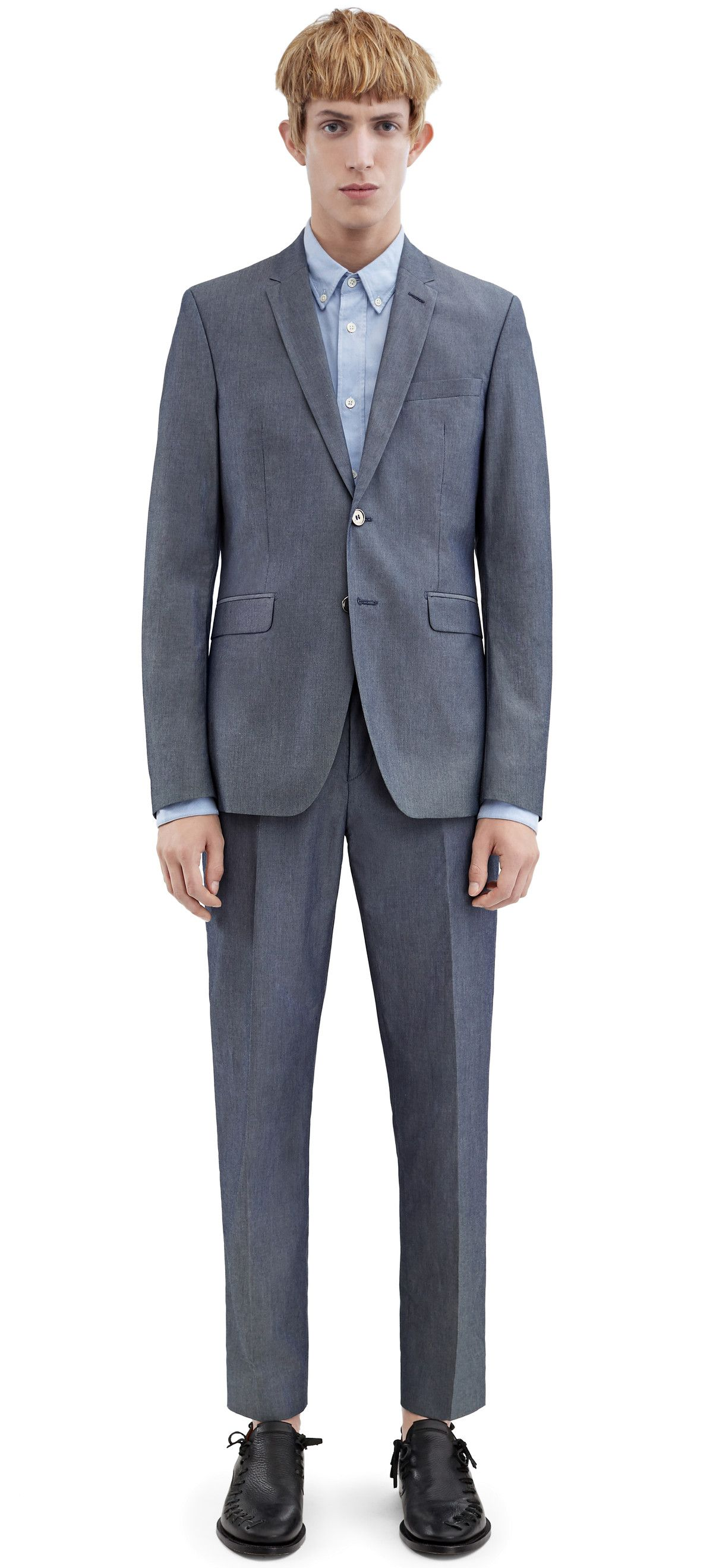 ACNE STUDIOS Aron J Chamb Denim Blue. #acnestudios #cloth #suit-jackets