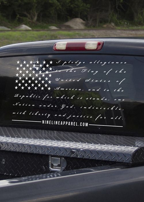 3e28ef37b8 Vinyl Decal - The Pledge. Nine Line Apparel is an American Clothing Company  with American made Apparel - Veteran Owned and Operated