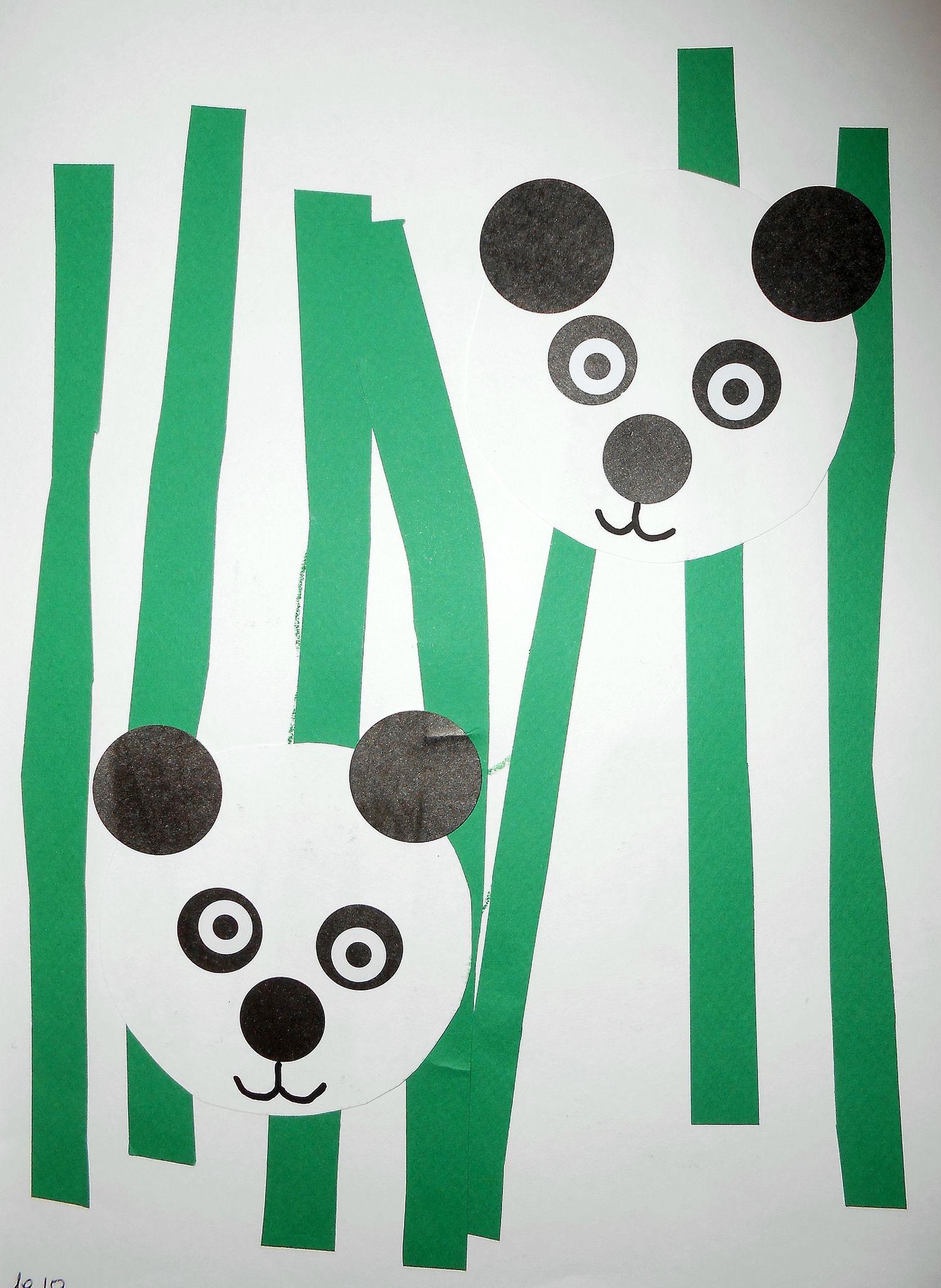 panda collage facile la maison f erique pinterest gommette activit manuelle et panda. Black Bedroom Furniture Sets. Home Design Ideas