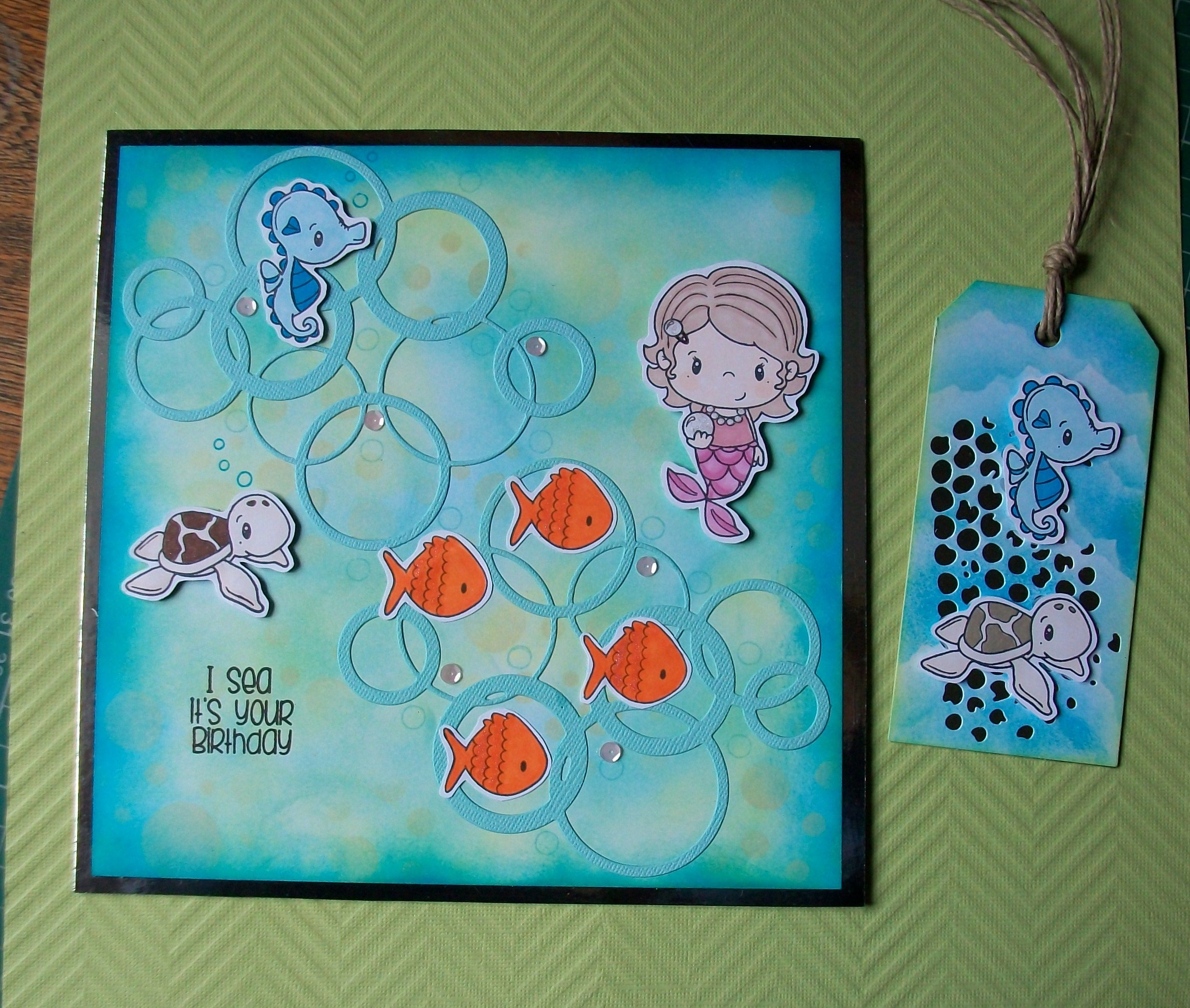Under the sea little pixie cc designs my cards