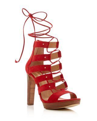 652f8e47133 MICHAEL MICHAEL KORS Sofia Lace Up Platform High Heel Sandals.   michaelmichaelkors  shoes  sandals