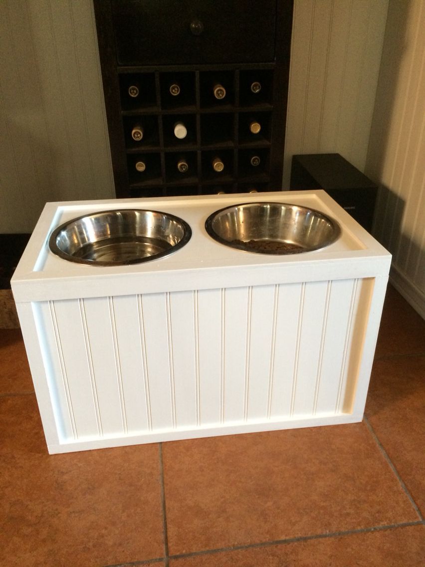 Feeding Station I Made For My Mastiff If You Pull Up The Bowl