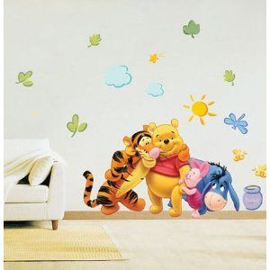 Awesome Disney Winnie The Pooh Wandsticker Wandtattoo Tigger Piglet Eeyore
