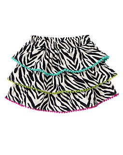Zebra Tiered Skirt