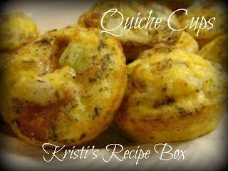 Kristi's Recipe Box: Quiche Cups