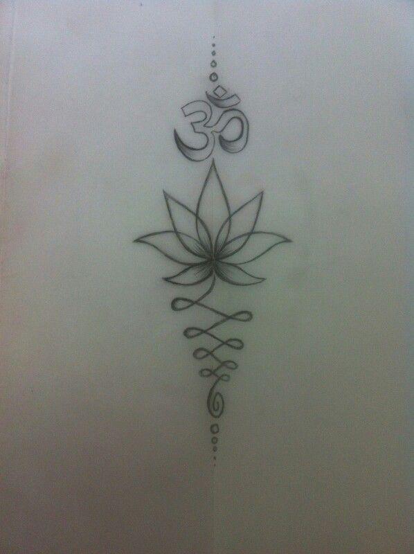 Lotus Flower And Om Tattoo Unalome Tattoo Mandala Tattoo Om