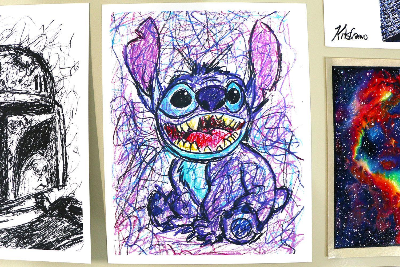 Lilo And Stitch Art Stitch Art Lilo And Stitch Stitch Fan Art Stitch Artwork Scribble Drawing Lilo And Stitch Drawings Stitch Drawing