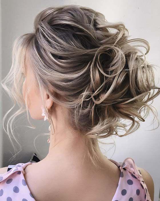 21 Cute And Easy Messy Bun Hairstyles Stayglam Messy Hairstyles Mother Of The Bride Hair Elegant Wedding Hair
