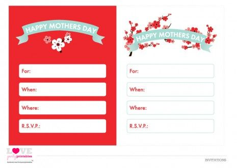 FREE Mother\u0027s Day Printables from Love Party Printables Party