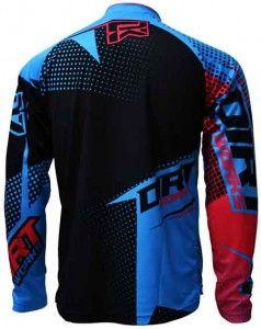 Download Jersey Sepeda Dirtworks Vektr Biru Desain Kaos Jersey Pakaian Bersepeda Biru