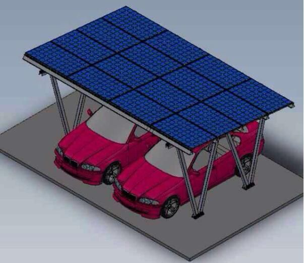 Two Car Solar Panel Carport Ground Mounting System Aluminum Double Canopy Carports Racks For Parking Lot Manufacturers Fac Canopy Outdoor Canopy Tent Canopy