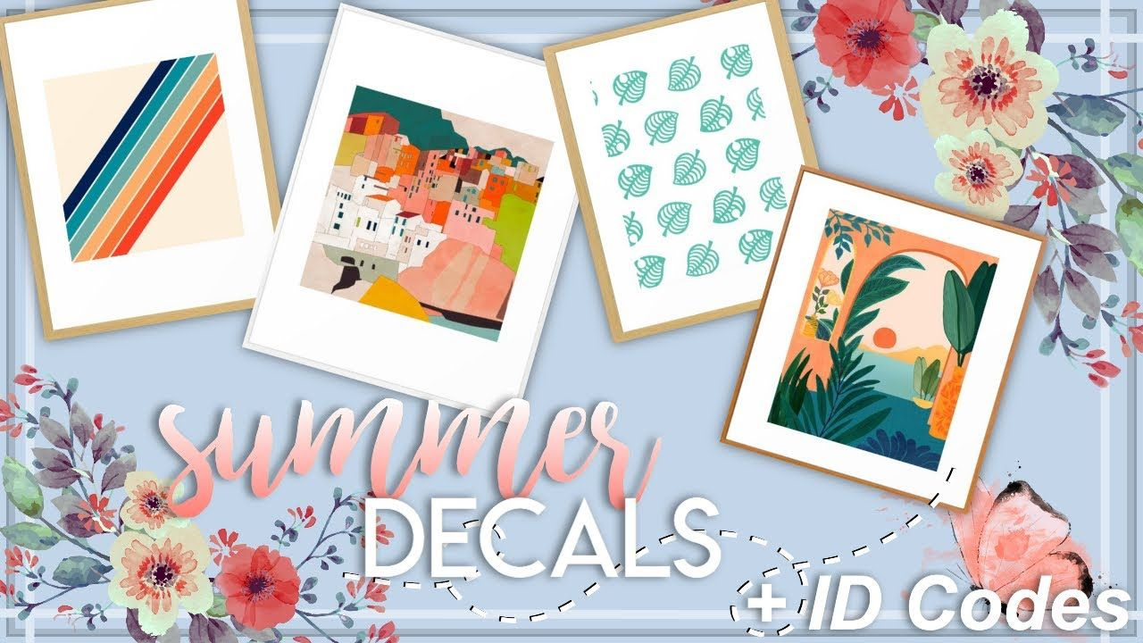 40 Summer Decals For Bloxburg With Id Codes Nixilia Youtube Summer Decal Coding Code Wallpaper
