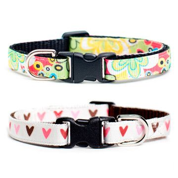 Your kitty may not have lived through the Flower Power heyday but she's definitely got her own groove going. ity's easy to give her the look she wants because it's now on sale on fab! #cat #catcollars #petproducts