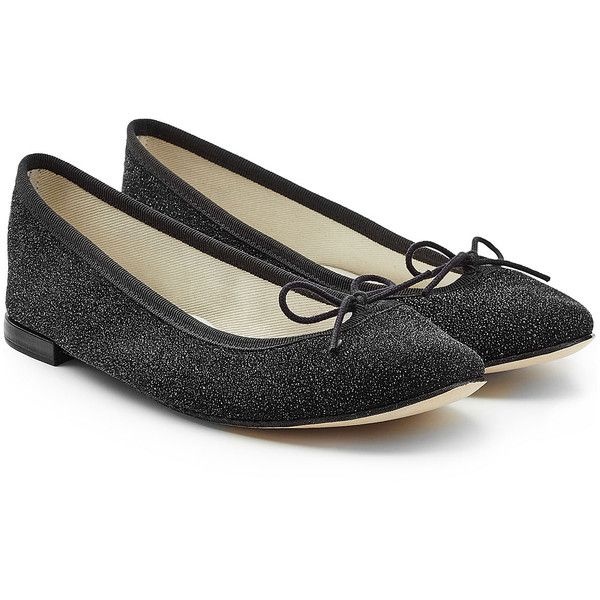 Repetto Cendrillon Leather Ballerinas (415 CAD) ❤ liked on Polyvore featuring shoes, flats, black, black leather shoes, black ballerina flats, black low heel shoes, leather ballet flats and leather shoes