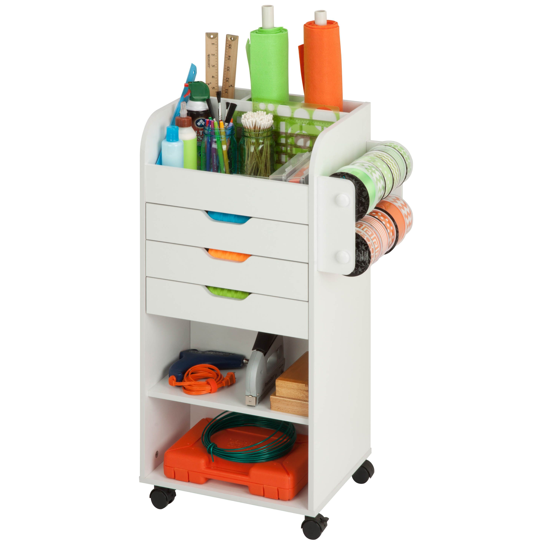 Honey Can Do Craft Storage Cart (white)  sc 1 st  Pinterest & Honey Can Do Craft Storage Cart (white) | Storage cart Craft ...