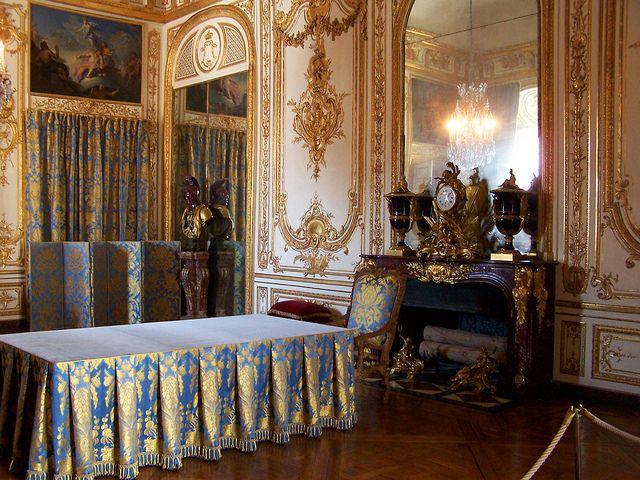 Cabinet du Conseil du château de Versailles, d\u0027où Louis XIV, Louis