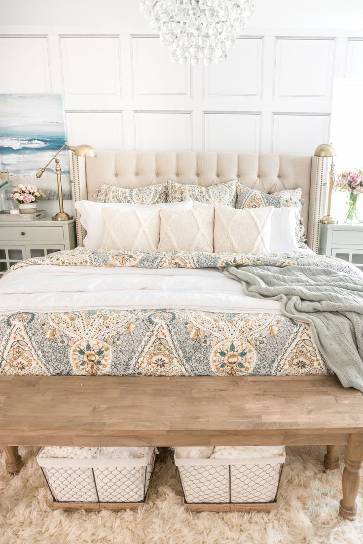 Cozy Coastal Farmhouse Bedroom In 2020 Farmhouse Bedroom Master Bedrooms Decor Coastal Farmhouse