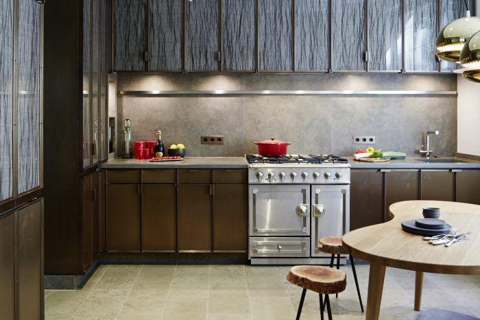 schimmernde Fronten In der Küche des Showroom Haus Bahren in - hamburger küche restaurant