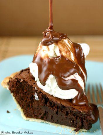 Brownie truffle pie