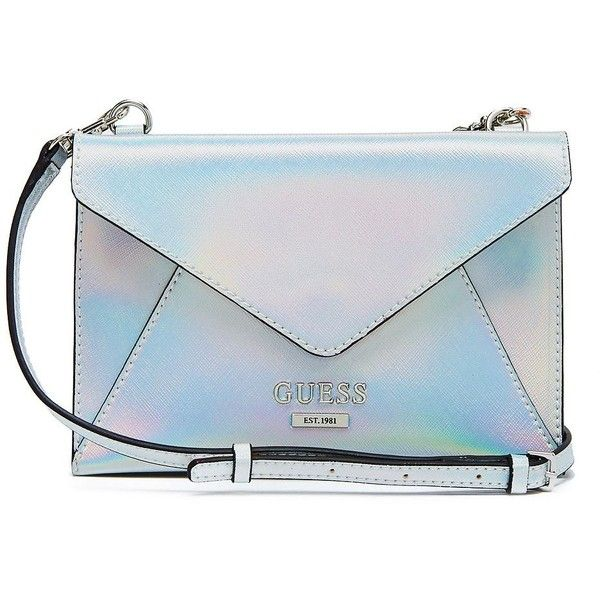 GUESS Doheny Metallic Envelope Cross-Body (€49) ❤ liked on Polyvore  featuring 24f9de31018e3