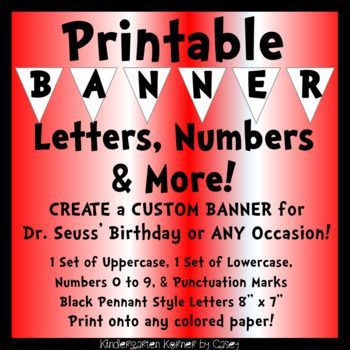 picture regarding Dr Seuss Letters Printable referred to as Study Throughout The us Banner Pennant Letters Quantities Bulletin