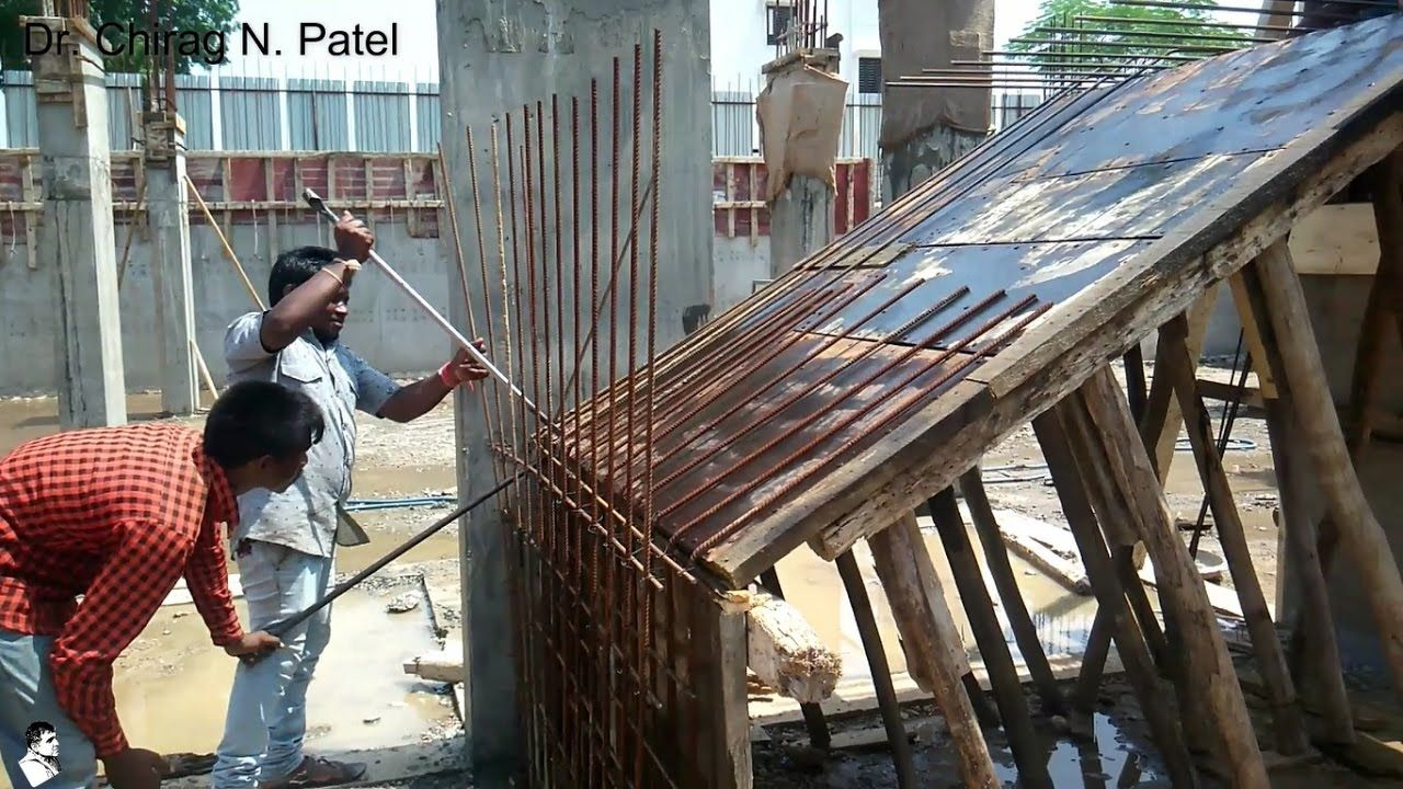 Rebar Reinforcement For Staircase Installation Of Steel Reinforcemen Concrete Staircase Staircase Architecture Staircase