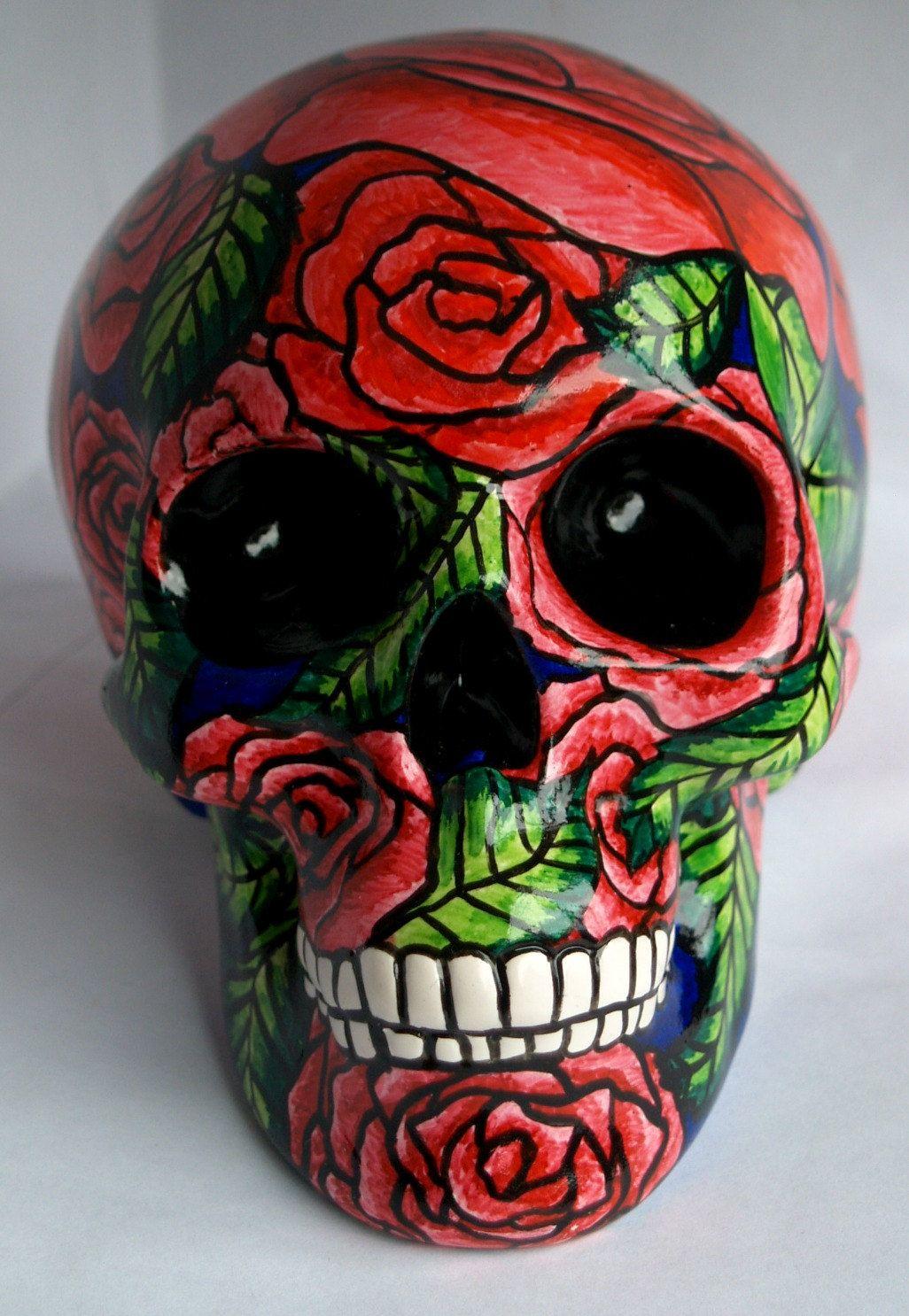 Sugar Skull Money BoxDa de Muertos Skull Money Box