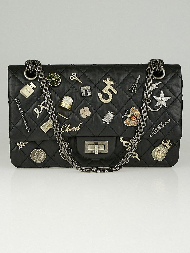 3f163adfc811 Chanel 2.55 Reissue Quilted Calfskin Leather Lucky Charms 225 Flap ...
