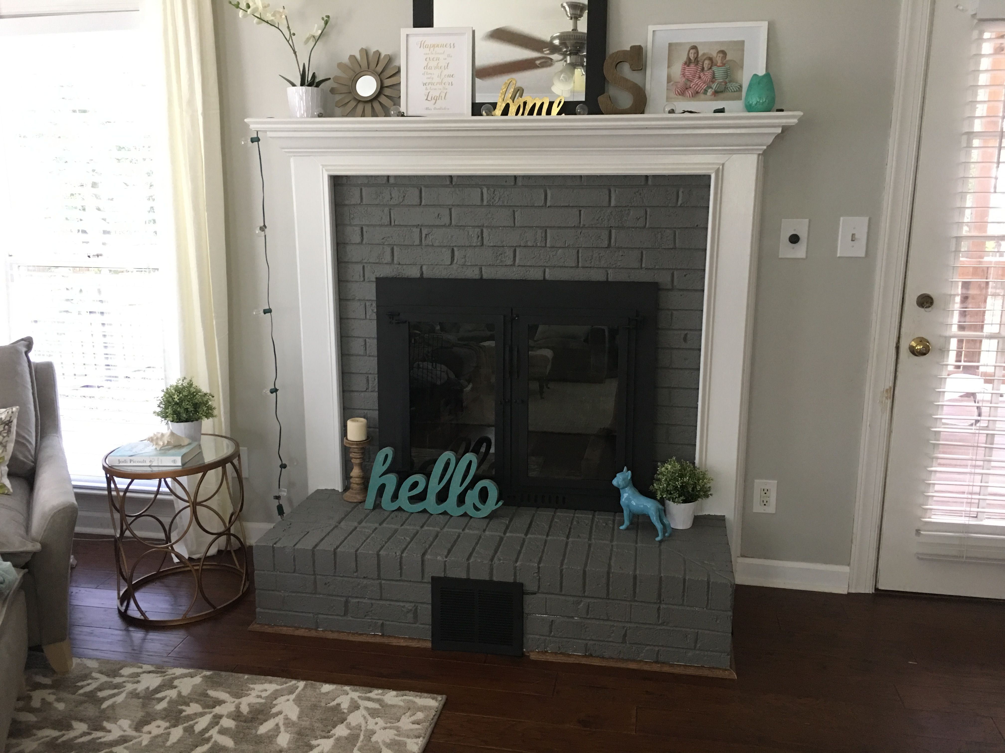 Sw Gauntlet Gray Painted Fireplace Paint Fireplace Grey Painted