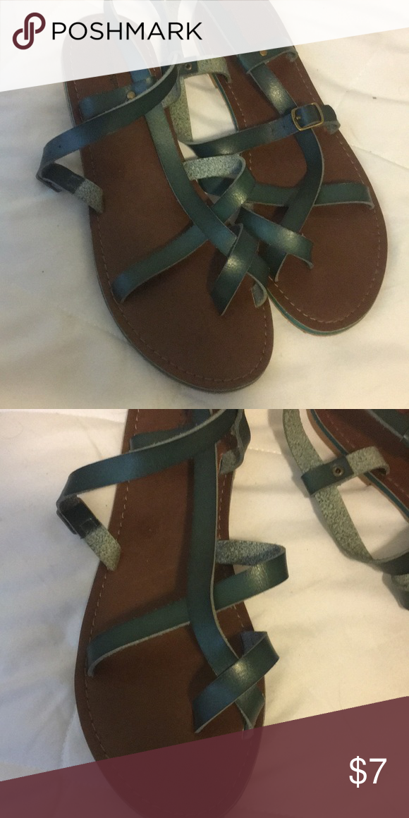 ee07d001c00 Mossimo green strapped sandals Missimo green strapped sandal Mossimo Supply  Co. Shoes Sandals