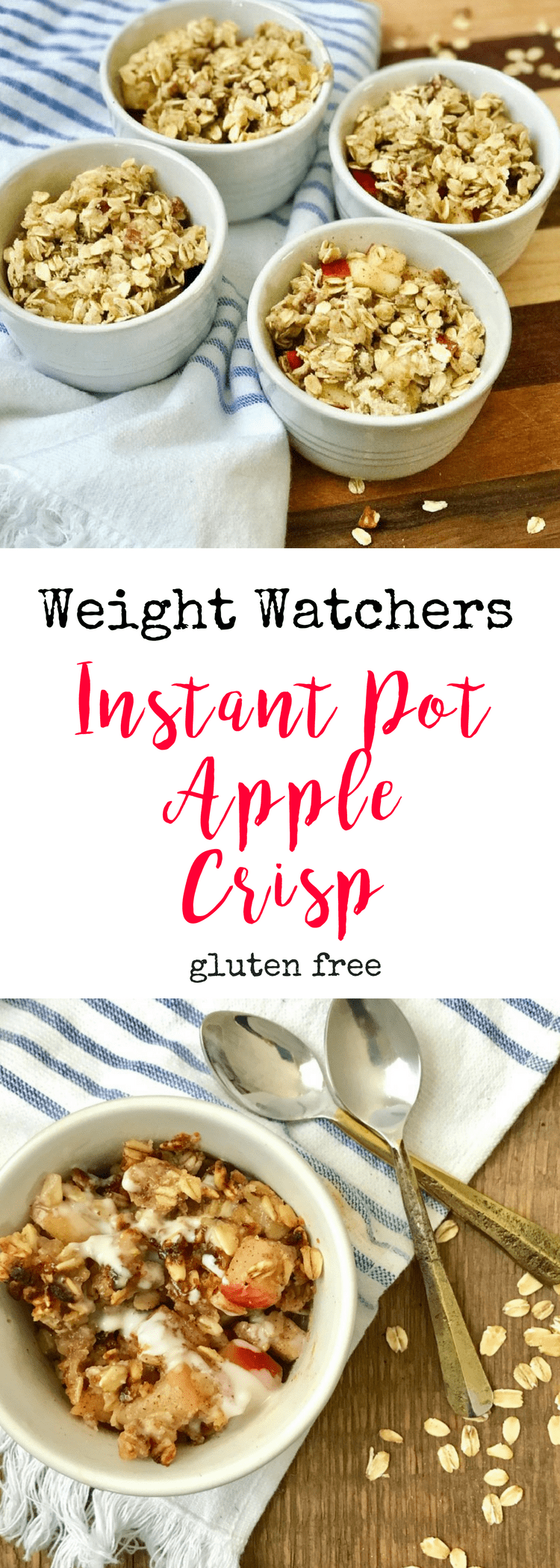 Healthy Instant Pot Apple Crisp | Gluten-free Apple Crisp - Confessions of a Fit Foodie