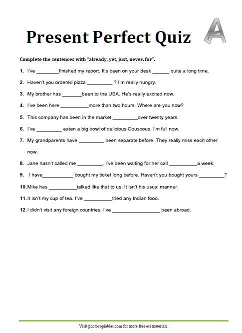 42++ Perfect verb tense worksheets 4th grade info