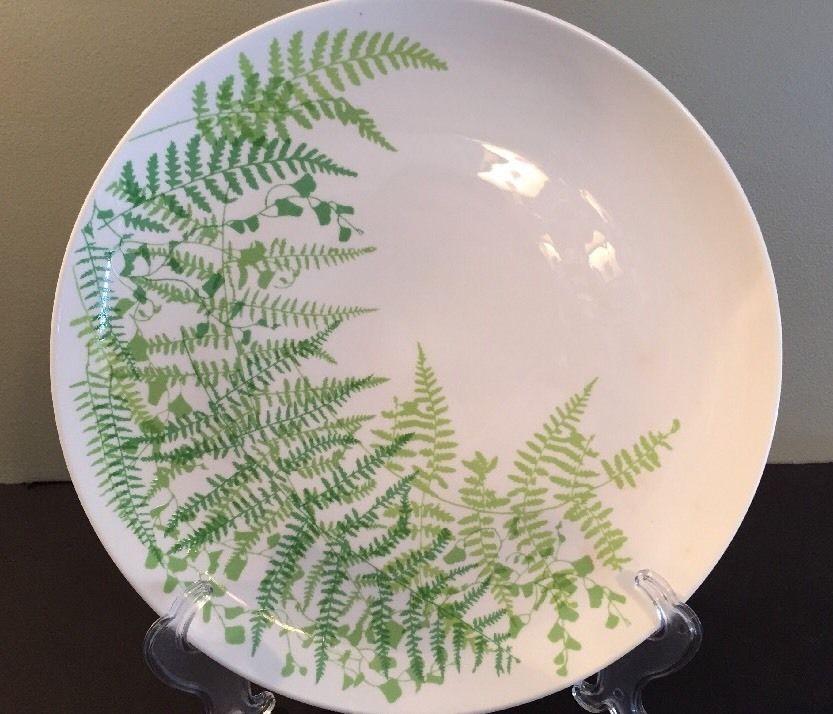 Mikasa VERA LACY FERN Green China Round Serving Platter Chop Plate #Mikasa