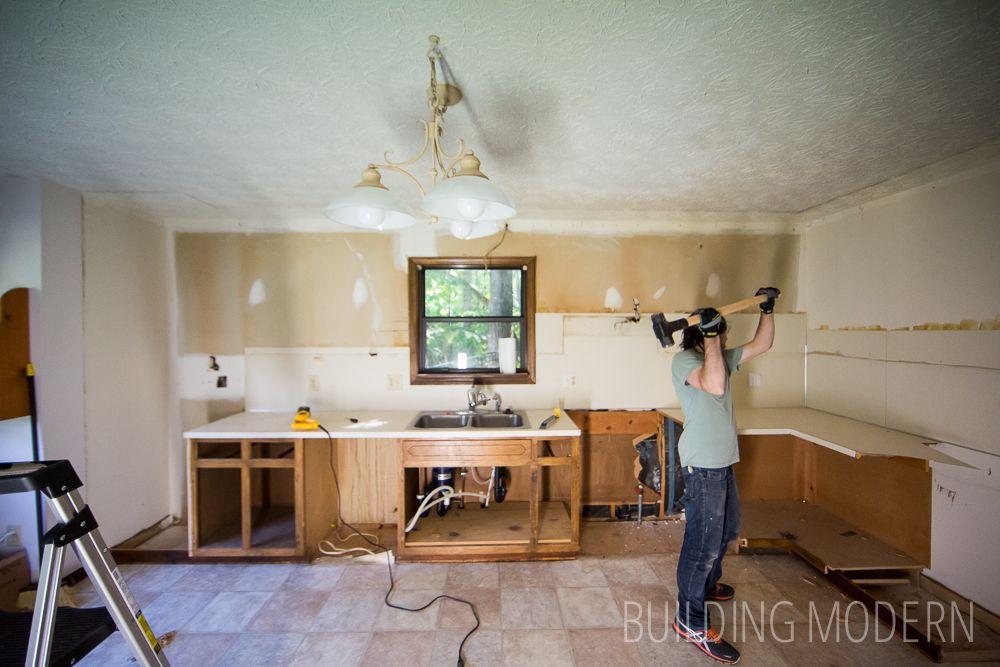 Kitchen Demo Cabinets Diy Kitchen Renovation Modern