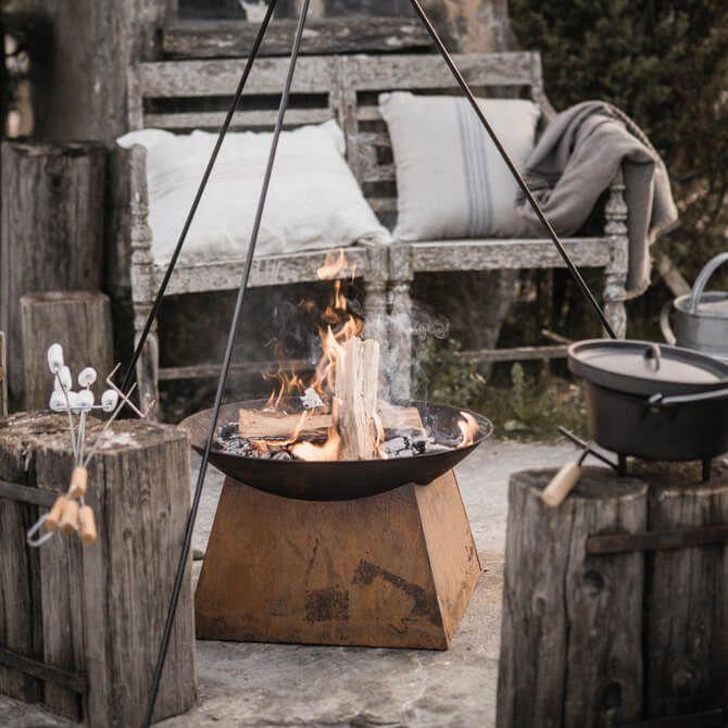 vintage feuerschale rost barefoot living by til schweiger bbq outdoor garten garden. Black Bedroom Furniture Sets. Home Design Ideas