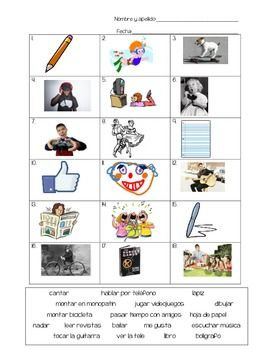Realidades 1 - 1A Quiz or worksheet : Super basic recognition ...