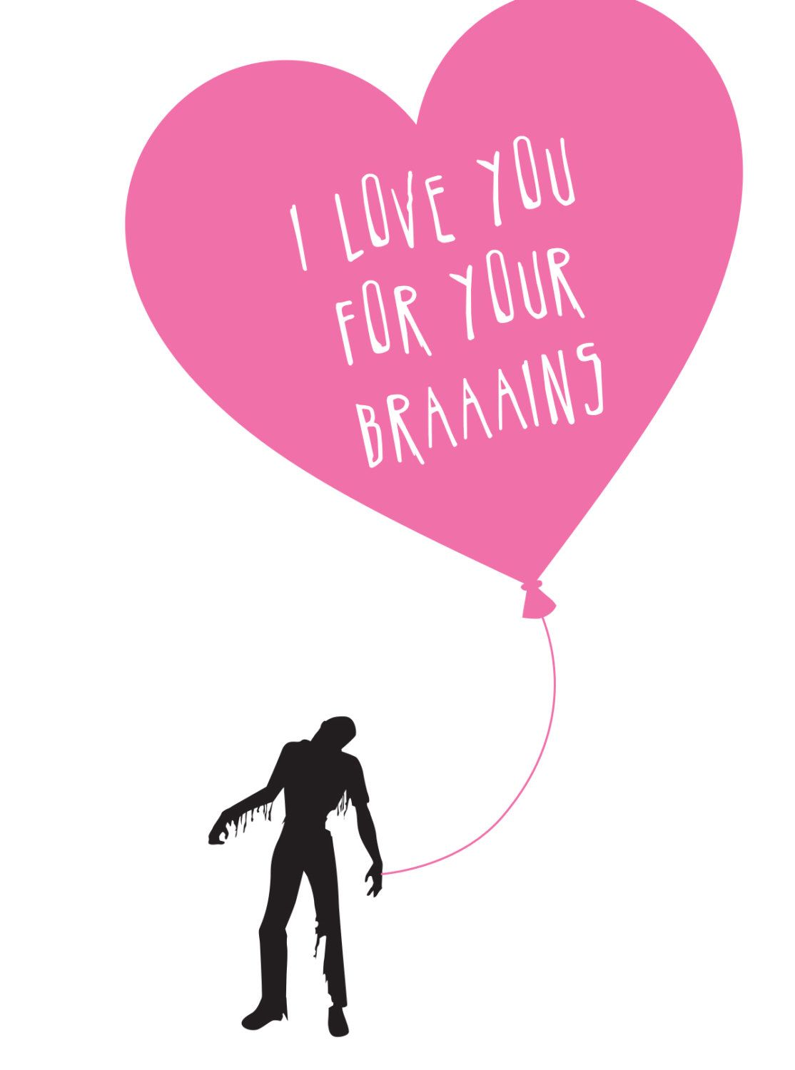 Zombie Valentine Card by NewhardDesign on Etsy httpswwwetsy