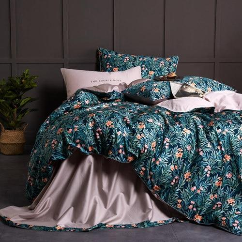 Egyptian Cotton Duvet Cover Tropical Plants Bedding Sets Bvm Home Modern Bed Set Egyptian Cotton Duvet Cover Modern Bed