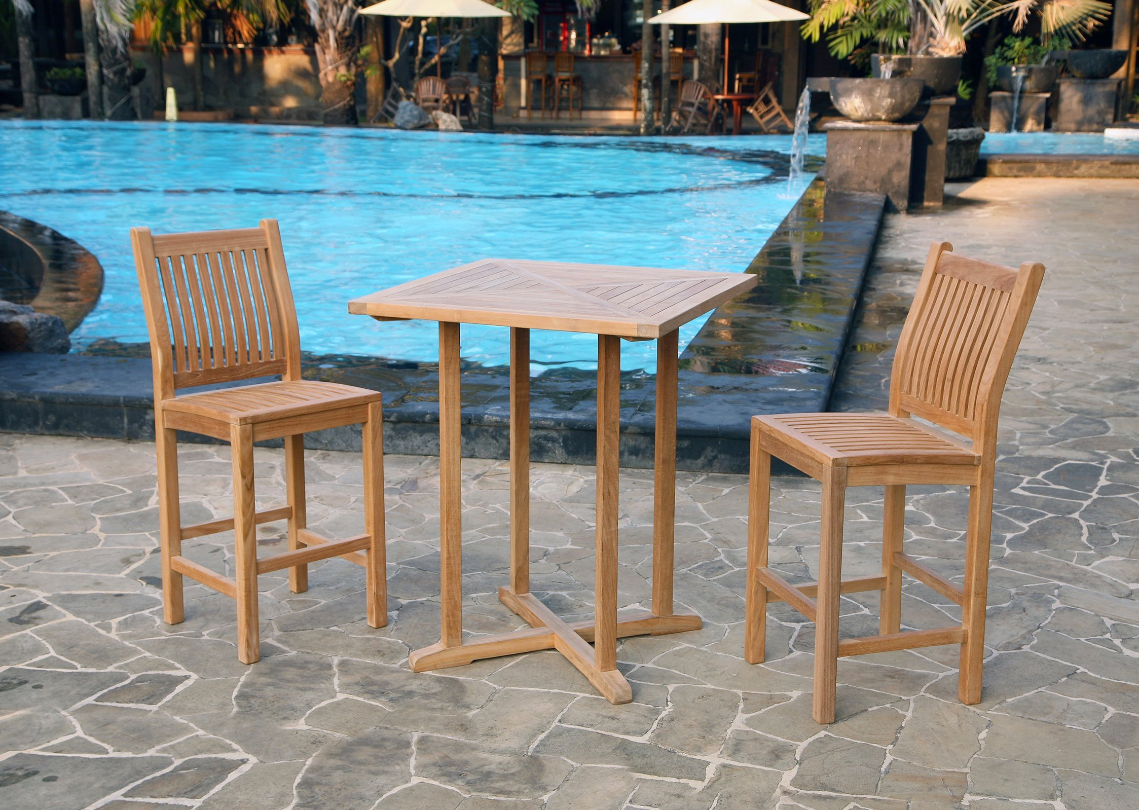 Outdoor Bar Furniture Teak Patio Furniture Sets Outdoor Bar - Teak patio table with leaf