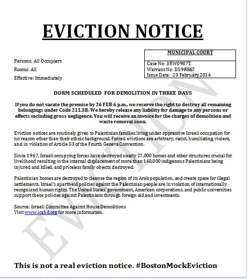 Printable Sample Eviction Notices Form  Free Eviction Notices