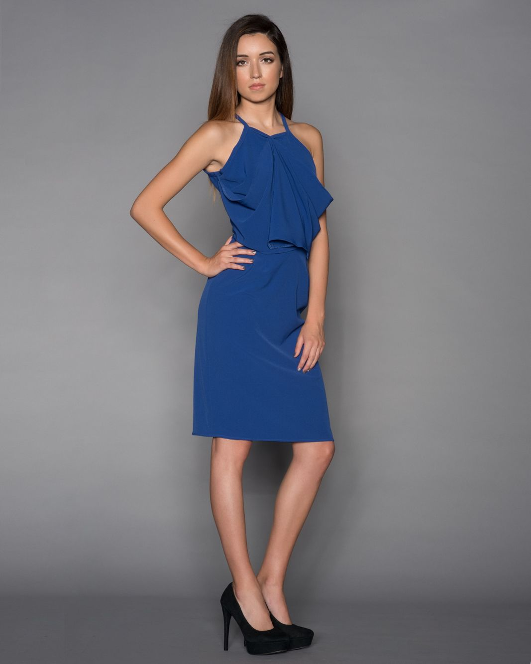 Diamond Midi-Dress  Available in sizes: S-XL In colors: Royal/Black/Taupe/White