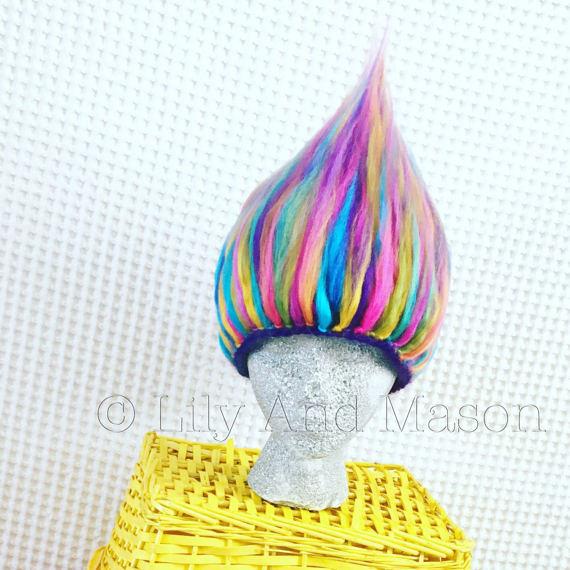 Troll Hat, Troll Hair Crochet Pattern, Troll Hair Hat, Troll Hair ...
