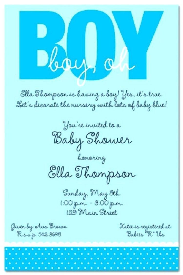 Baby Shower Wording For A Boy - Baby Viewer