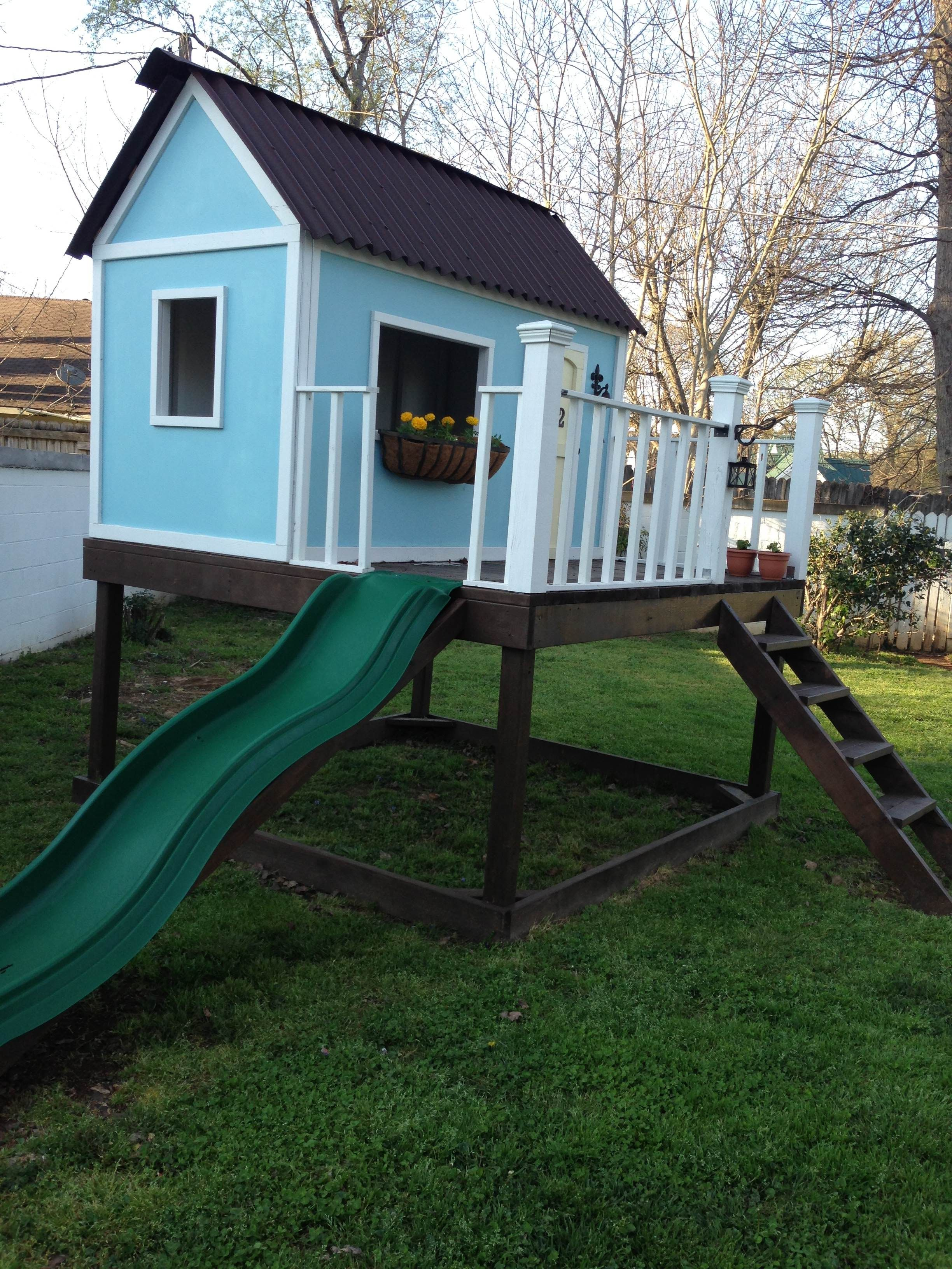 playhouse via ana white play house pinterest playhouses ana