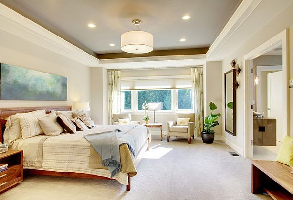 l0ve me a painted ceiling tray ceiling paint ideas for the bedroom - Bedroom Ceiling Color Ideas